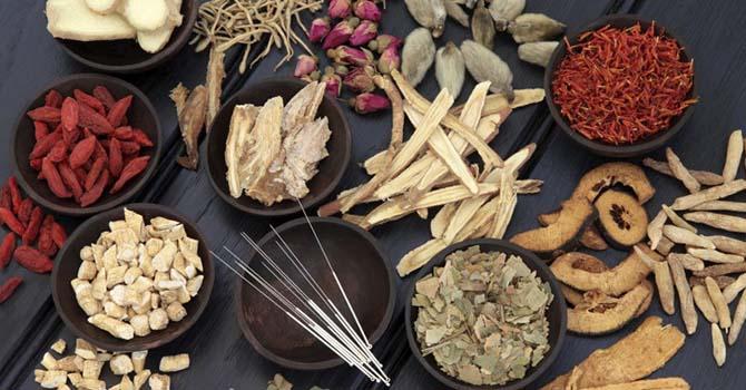 Acupunctuurnaalden en herbs