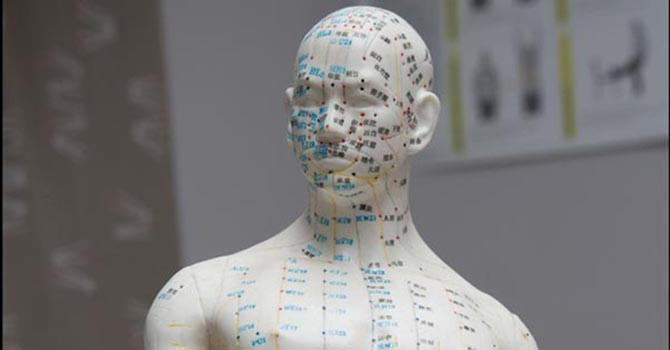 Acupunctuur Punten gezicht en nek