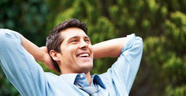 Ontspannen Lachende Man